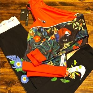 Nike track jacket outfit red printed